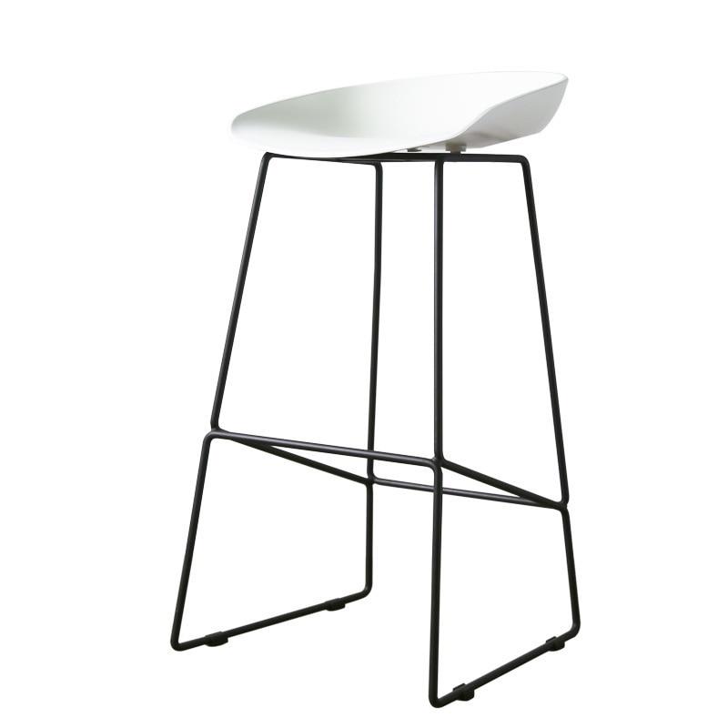 Bar Stool Metal Feet Nordic Bar Chair High Chair High Stool Bar Chair Bar Stool Bar Stool Simple