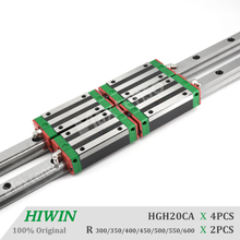 HIWIN HGH20 Linear Guide Rail and Blocks Carriage 300 400 500 600mm Linear Guideways Square Type for HGR20 High Precision CNC