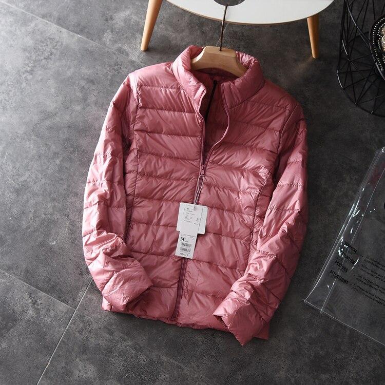 Ultra Light White Duck Down Jacket Women Thin Winter Coat Female Jacket Korean Tops Ladies Coats Chaqueta Mujer KJ411