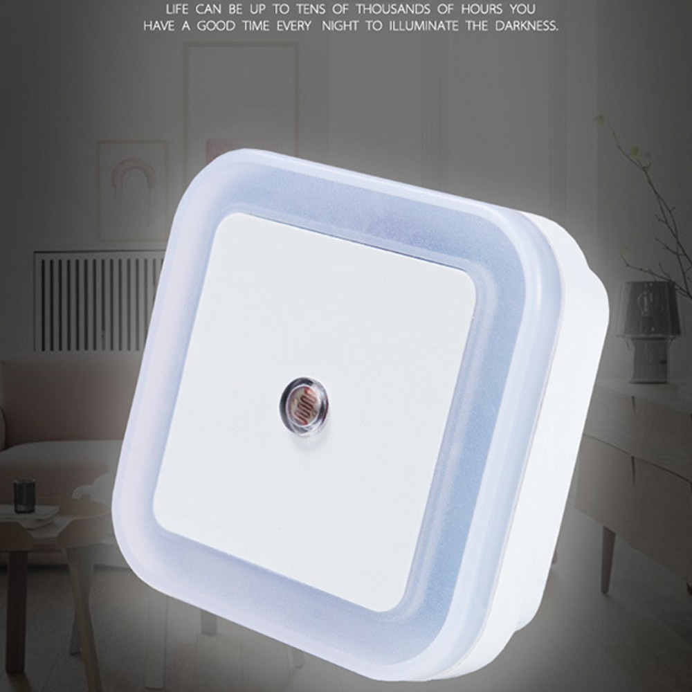 LED Night Light Sensor Control Night Lamp Energy Saving LED Sensor Lamp EU US Plug Nightlight For Children Kids Bedroom