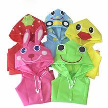 Плащ-дождевик с рисунком животных для детей ясельного возраста; непромокаемый костюм для мальчиков и девочек; водонепроницаемый длинный плащ с капюшоном; милое пончо для студентов