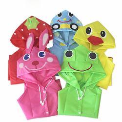 Estilo animal dos desenhos animados capa de chuva crianças criança chuva jaqueta meninas meninos rainsuit impermeável com capuz longo rainwear estudante bonito poncho