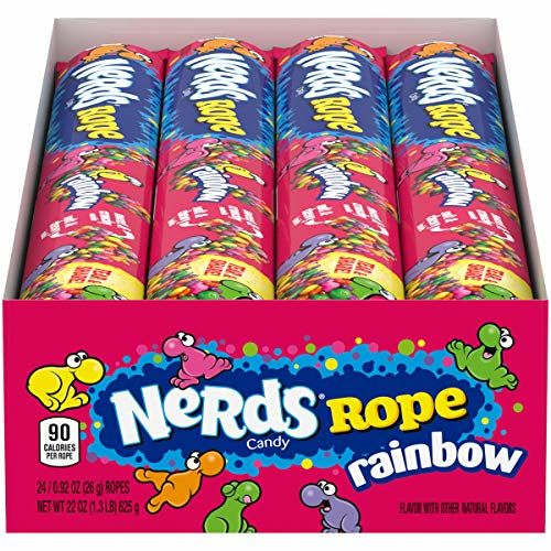 Wonka Rainbow Nerds Rope 26 G (Pack Of 24)