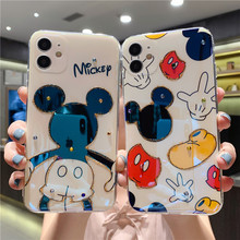Disney Mickey Minnie Blu-ray All-inclusive Soft Case for iPhone 11 Pro Max XR XS Max 7 8 Plus X SE Full Body Phone Back Cover cheap Anti Blue-ray CN(Origin) APPLE Front Film