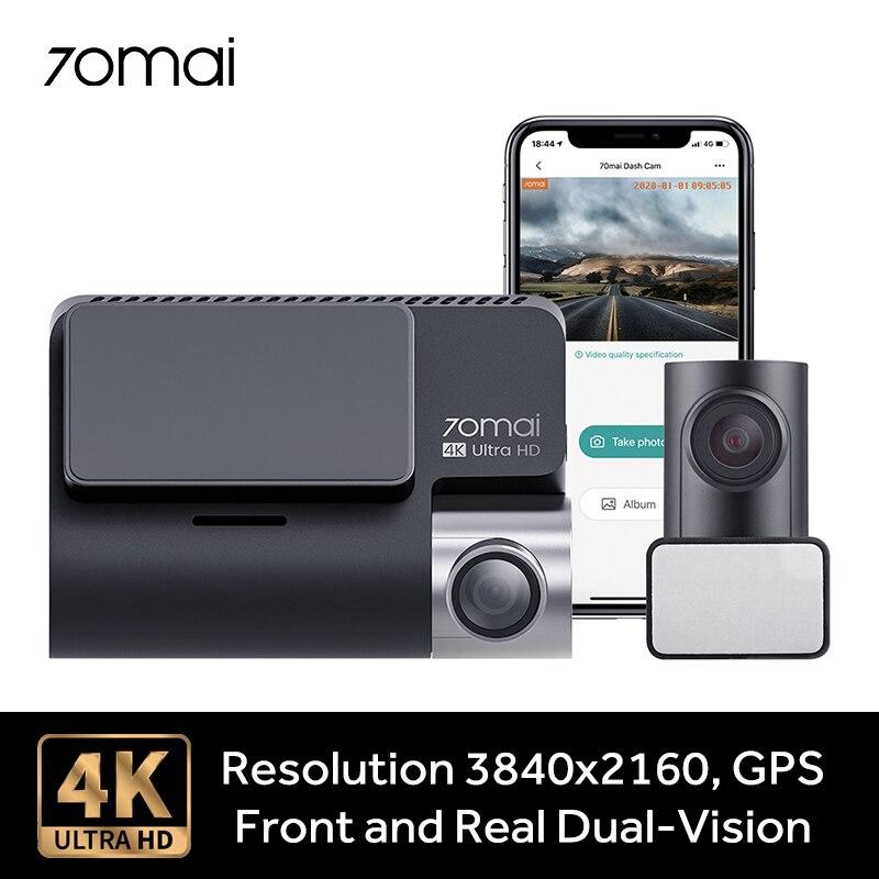 70mai a800 traço câmera 4k ultra hd uhd câmera de visão dupla gps embutido 3840x2160 resolução