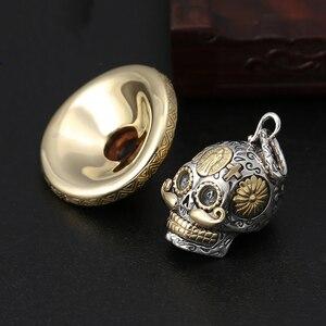 Image 4 - V.YA Punk 925 Sterling Silver Skeleton Skull Pendants Fit Necklaces for Men Women Thai Silver Pendant High Quality