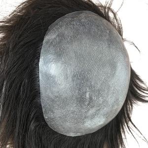 Парик Toupee для мужчин ручной работы, замена мужских t систем, искусственная кожа, Прозрачная Тонкая кожа, 0,06 0,08 мм, индийские натуральные волосы Remy, 6 дюймов|Парики|   | АлиЭкспресс