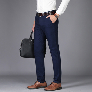 Image 3 - NIGRITY 2020 Autumn Mens Casual Pants High Quality Classics Fashion Male Cotton Trousers Business Formal Mens Office Long Pants