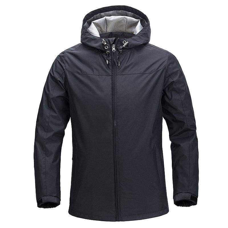 New Solid Color Raincoat Jacket Customizable Logo Autumn & Winter Windproof Waterproof Thick Coat Advertising Shirt Gong Zuo Fu