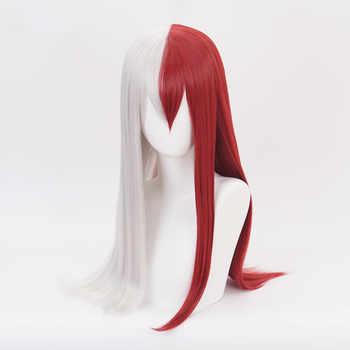 My Hero Academia Boku no Hiro Akademia Shoto Todoroki Shouto White And Red Cosplay Wig+Wig Cap