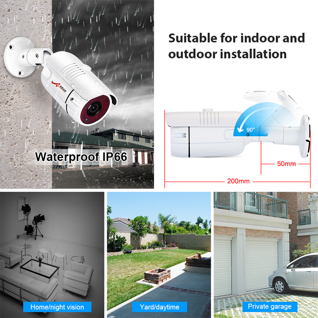 ANRAN AHD CCTV System 2MP DVR Kit Video Surveillance System Weatherproof Outdoor Security Camera HDD Night Vision P2P HDMI 3