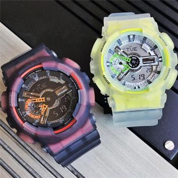 Gorący sprzedawanie 110 sport i rozrywka zegarek kwarcowy LED wodoodporny cyfrowy zegarek męski wszystkie funkcje mogą być obsługiwane tanie i dobre opinie OIMG 24cm NONE 3Bar Sprzączka CN (pochodzenie) RUBBER 14mm Kwarcowe zegarki 50mm 12mm