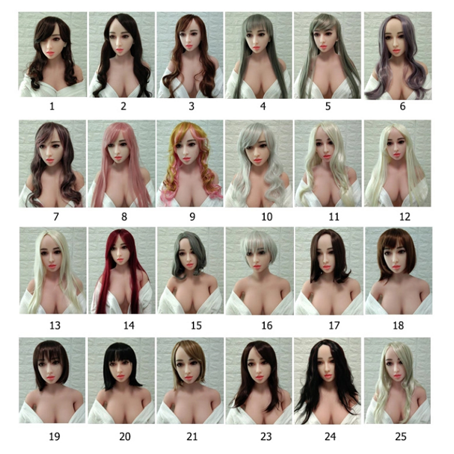 All Kinds Of Wig And Difference Color Hair For Real Silicone Sex Dolls From 100cm To 176cm Height Dolls