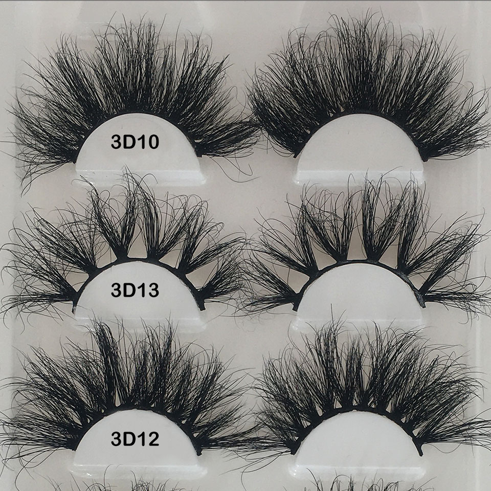 Mink Eyelashes 25mm Lashes 1 Pair / Pack Messy Cross Long Dramatic 3D Lash Vendors 100% Real Mink Lashes Wholesale Lashes Makeup