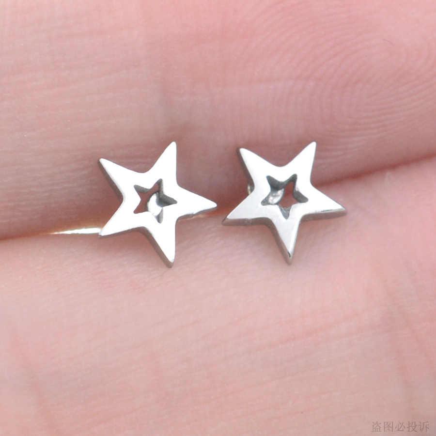 Starbeauty 1pc mini estrela brincos hélice studs tragus orelha piercing orelha cor ouro cartilagem piercing daith brincos jóias