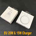 Orignal 15W Magnetic Wireless Charger For iPhone 12 Pro Max 12 Mini EU Plug Fast 20W Charger QI Charging 11 XS XR X