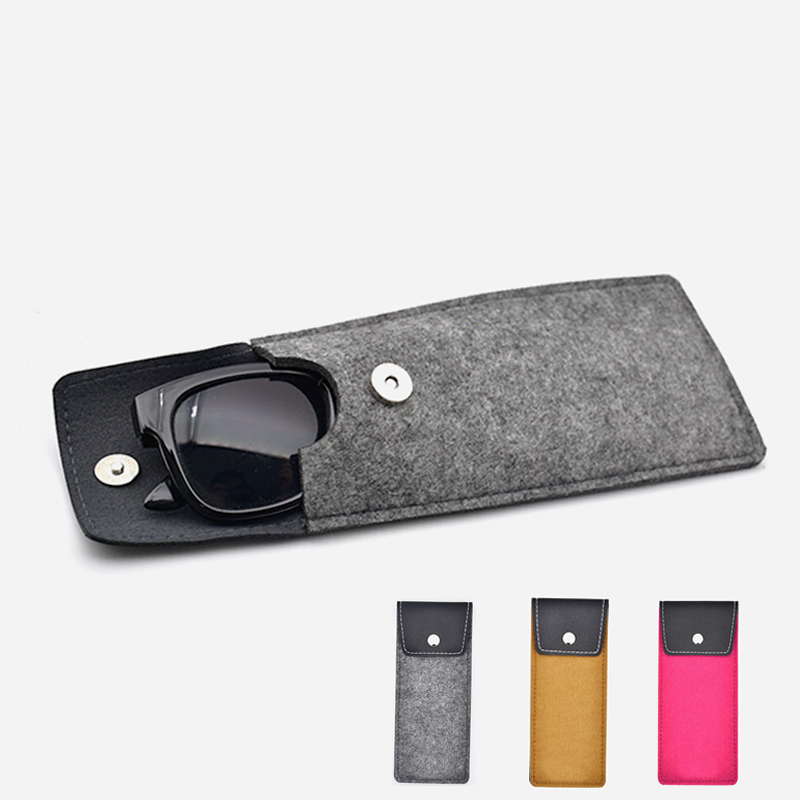 New Felt Glasses Case Colorful Candy Sunglasses Case Eyeglasses Box Soft Bag Accessoires Reading Glasses Bag