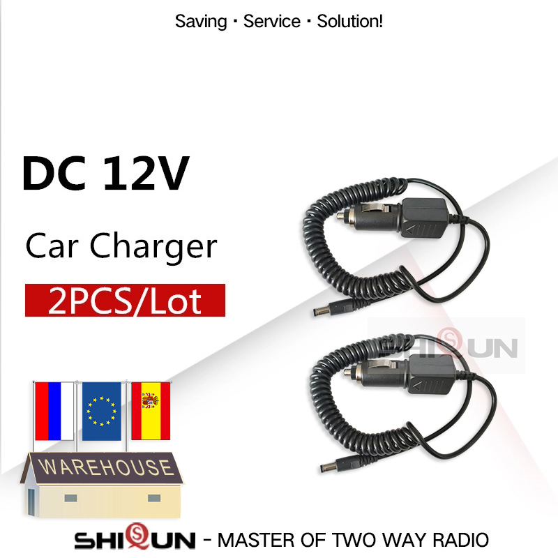 2PCS Battery Cable Line Baofeng Uv-5r Car Charge For UV-82 UV-5RE Uv-9r UV-XR Uvb2 Plus TG-UV2 Charger Walkie Talkie Accessories