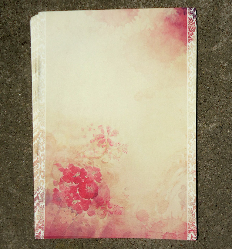 Sui Yue Fang Ancient Chinese-style Writing Paper Watercolor Retro Safflower