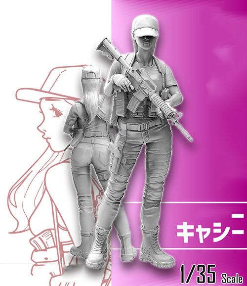 1/35  Modern Girl Ancient Stand  Resin Figure Model Kits Miniature Gk Unassembly Unpainted