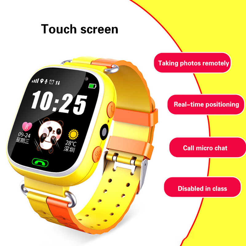 Children\'s Smart Watch Touch Screen LBS Photo Positioning Phone Call Watch English Language Support Primary School Students