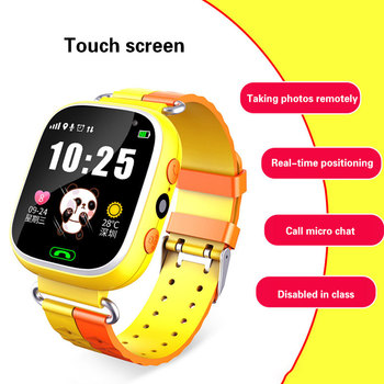 Children\s Smart Watch Touch Screen LBS Photo Positioning Phone Call English language support primary school students