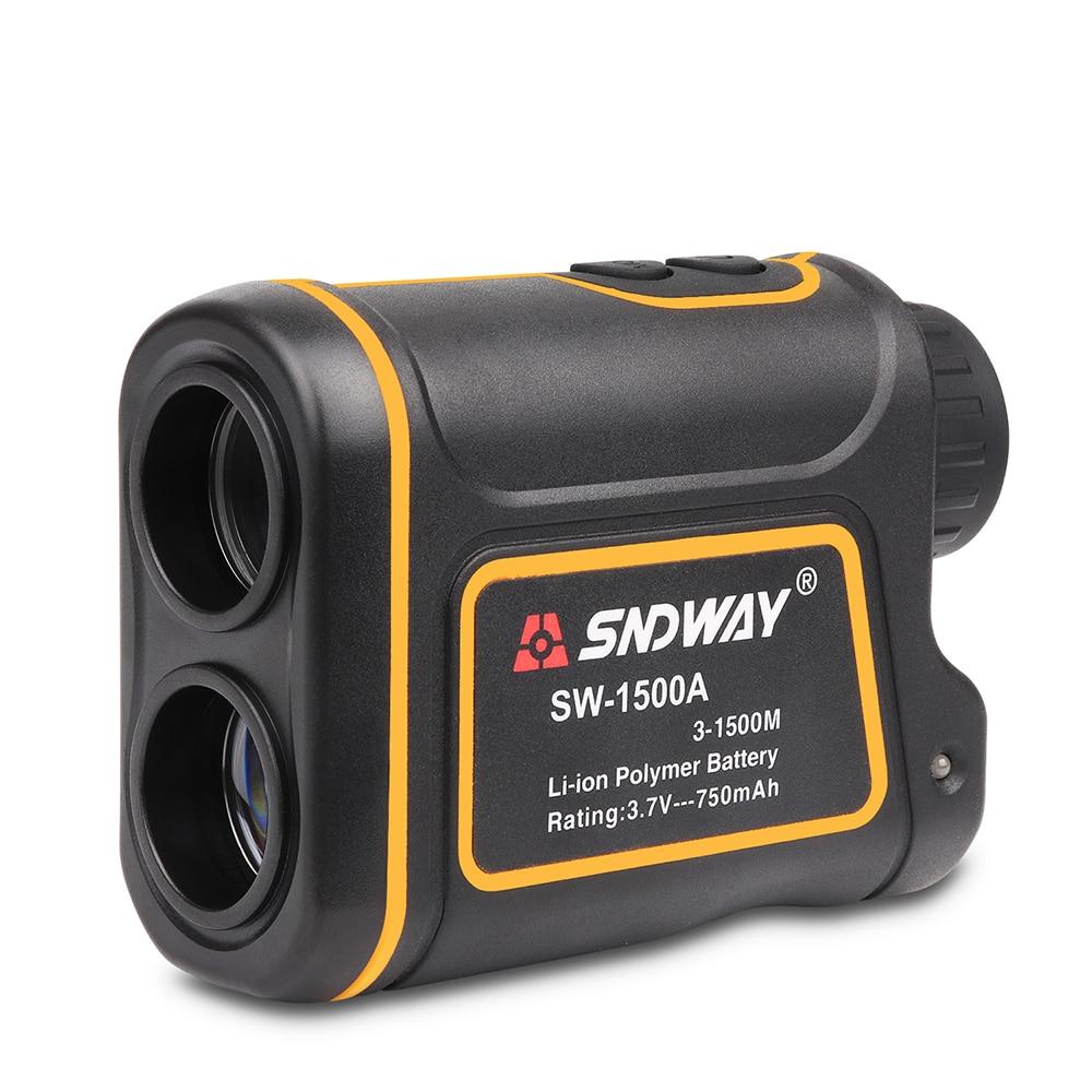 SNDWAY laser rangefinder monocular telescope laser distance meter 1500m hunting Golf trena measure speed Height angle