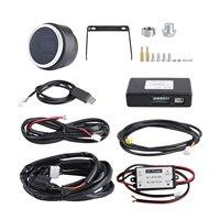 Digital de banda ancha de aire/combustible medidor de AFR incluye Kit de Sensor de oxígeno de registro de datos de salida de soldadura en tapón azul LED muestra de 2-1/16