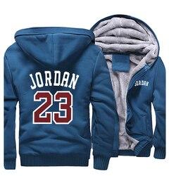 Herren Jacke Hoody Jordan 23 Gedruckt Hoodies Männer Starke Warme Jacken Zipper 2020 Herbst Winter Camouflage Military Streetwear Hoodie
