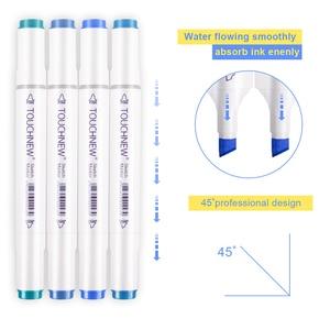 Image 5 - Touchnew 30/40/48/60/80/168 cores marcadores de arte gráfico desenho pintura álcool arte dupla ponta esboço caneta marcador gêmeo design caneta