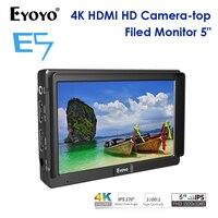 Eyoyo E5 Portable 4k Camera Field Monitor DSLR Full HD 1920x1080p 5 inch LCD Screen HDMI Small Mini IPS Camera Video Monitor 4K