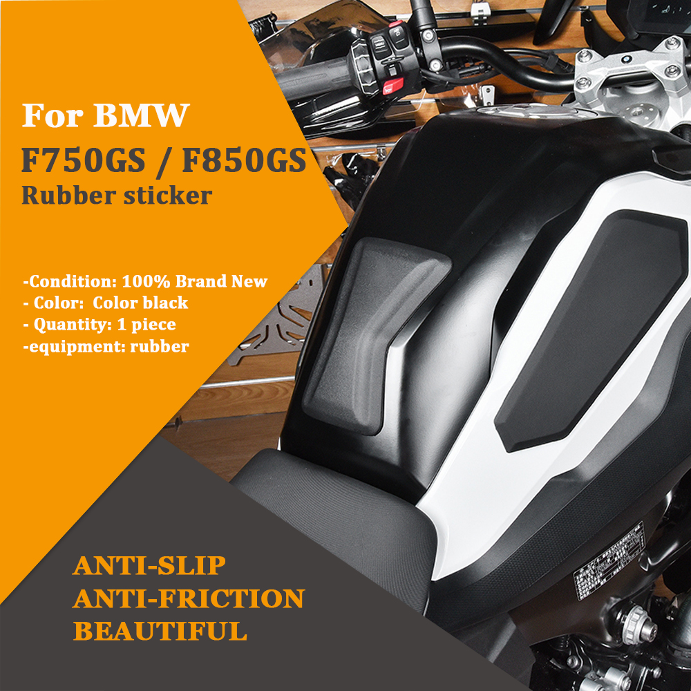 Motorcycle Tank Traction Pad Grips Rubber Gas Tank Decals Knee Protector For BMW F750GS F850GS 2018 2019