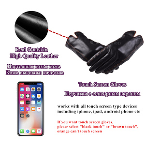 Image 4 - Gors الشتاء الرجال قفازات جلد طبيعي 2020 جديد ماركة قفازات شاشة لمس موضة قفازات سوداء دافئة الماعز قفازات GSM012