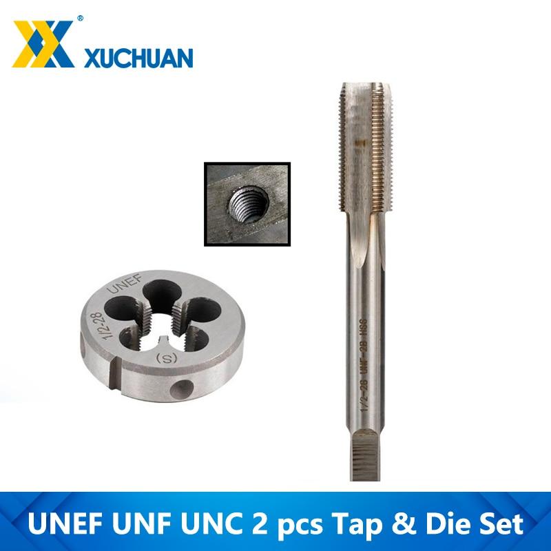 1pc HSS Machine 3//4-20 UNEF Plug Tap and 1pc 3//4-20 UNEF Die Threading Tool