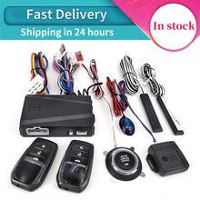 12V Auto Car SUV Keyless Entry Engine Start SUV Keyless Alarm System Push Button Remote start stop Auto Car Accessories Tool