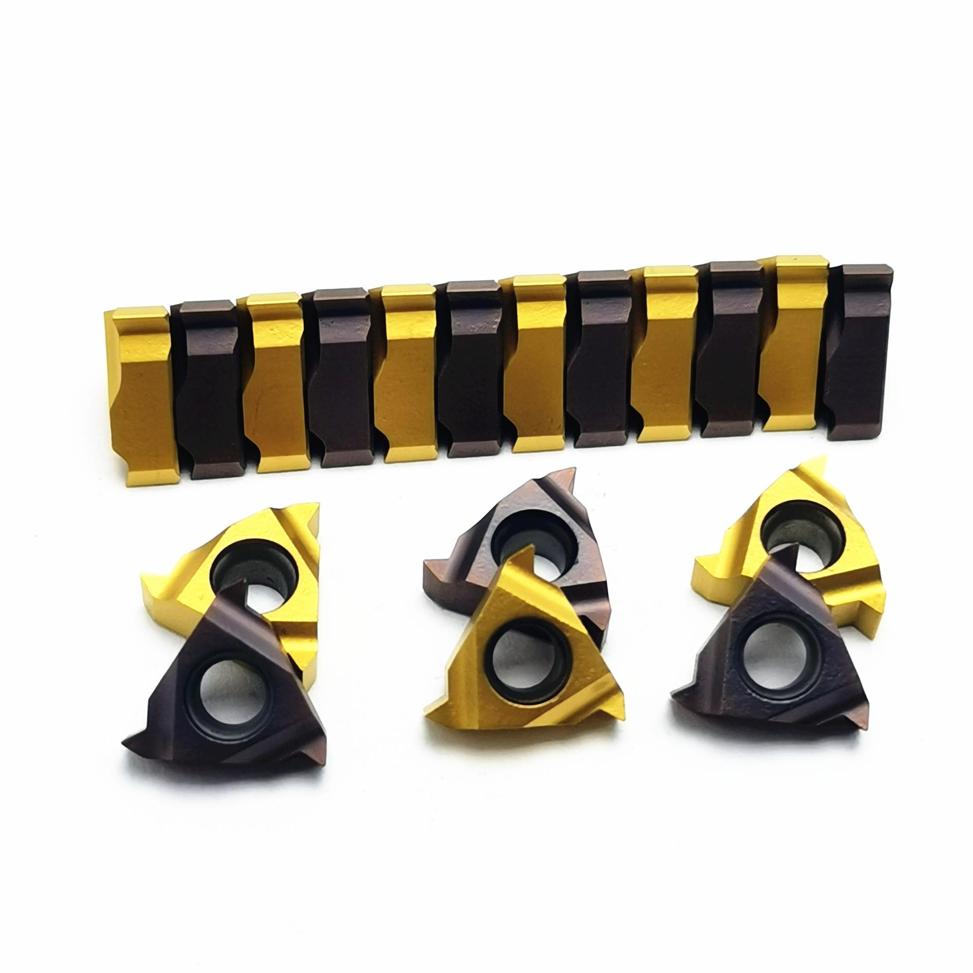 Tungsten Carbide MMT 16ER AG60 VP15TF / UE6020 / US735 Carbide Blade Thread Cutting Machine Lathe Tool Milling Cutter CNC Tool