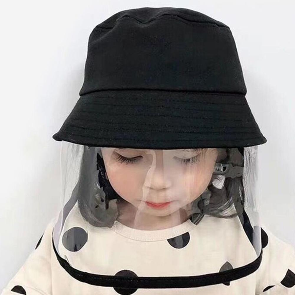 Children Kids Anti-droplet Visor Shield Bucket Hat Face Protective Cover Sun Cap Windproof And Dustproof Outdoor Sun Cap