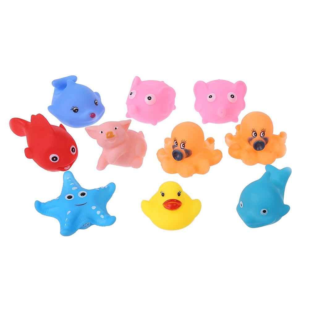 10 шт./лот мягкий резиновый поплавок Sqeeze звук Детская стирка Ванна играть животные милые игрушки