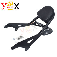 XVS 950 Backrest Rear Passenger Sissy Bar Bracket w/ Cushion Pad Luggage Rack Support For YAMAHA Bolt XVS950 XV950 2014 2019
