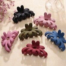 1PC 6 Colors Hair Claw Fashion Korean Women Flower Colorful Large Clip Makeup Bath Geometric Gripper Accessories