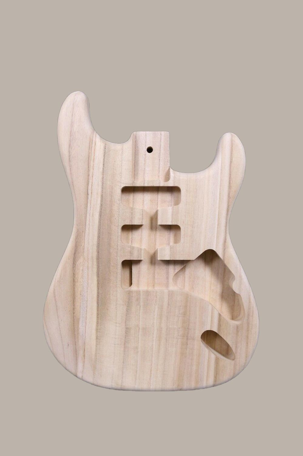 Unfinished Guitar Body Strat Style SSH Paulownia Wood DIY Electric Guitar SANDED