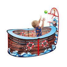 Ocean Ball Pool Cartoon Pirate Pattern Playpen Indoor Outdoor Game House Ball Pits with Basket Baby Play Tent(China)