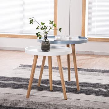 Nordic drewniany stolik kawowy proste stoliki do sypialni nowoczesne stoliki na sofę balkon stolik kawowy meble kuchenne tanie i dobre opinie CN (pochodzenie) Z tworzywa sztucznego China 55*60cm Europa i ameryka ALIEN Samowystarczalny