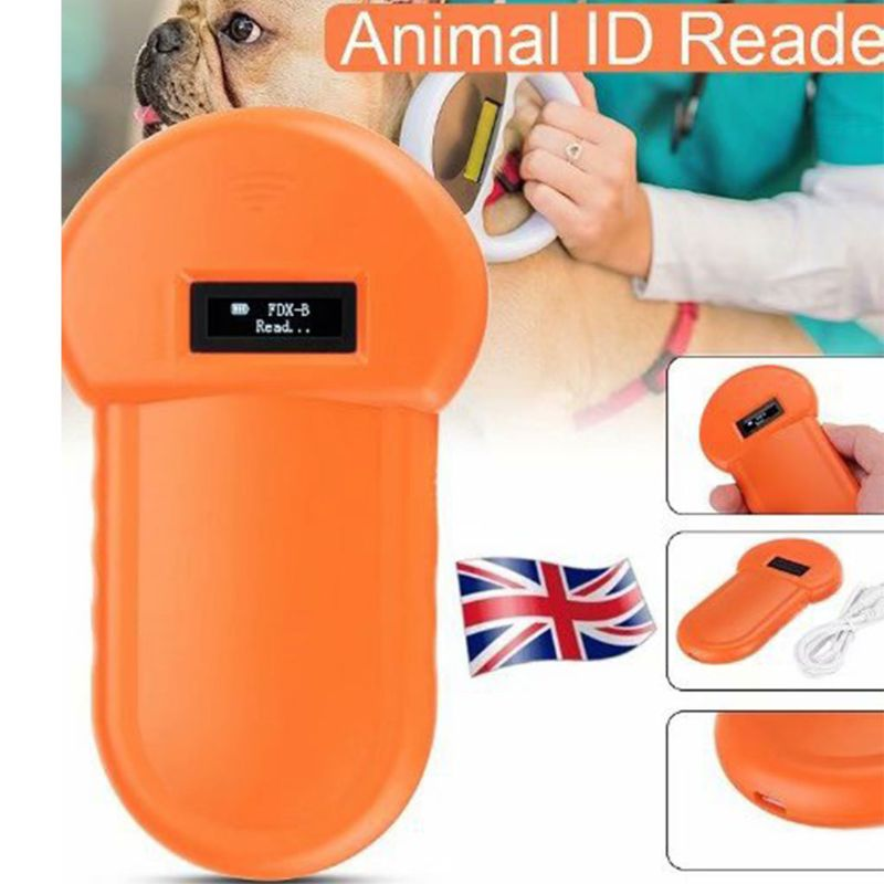 Pet ID Reader Animal Chip Digital Scanner USB Rechargeable Microchip Handheld Identification General Application For Cat Dog