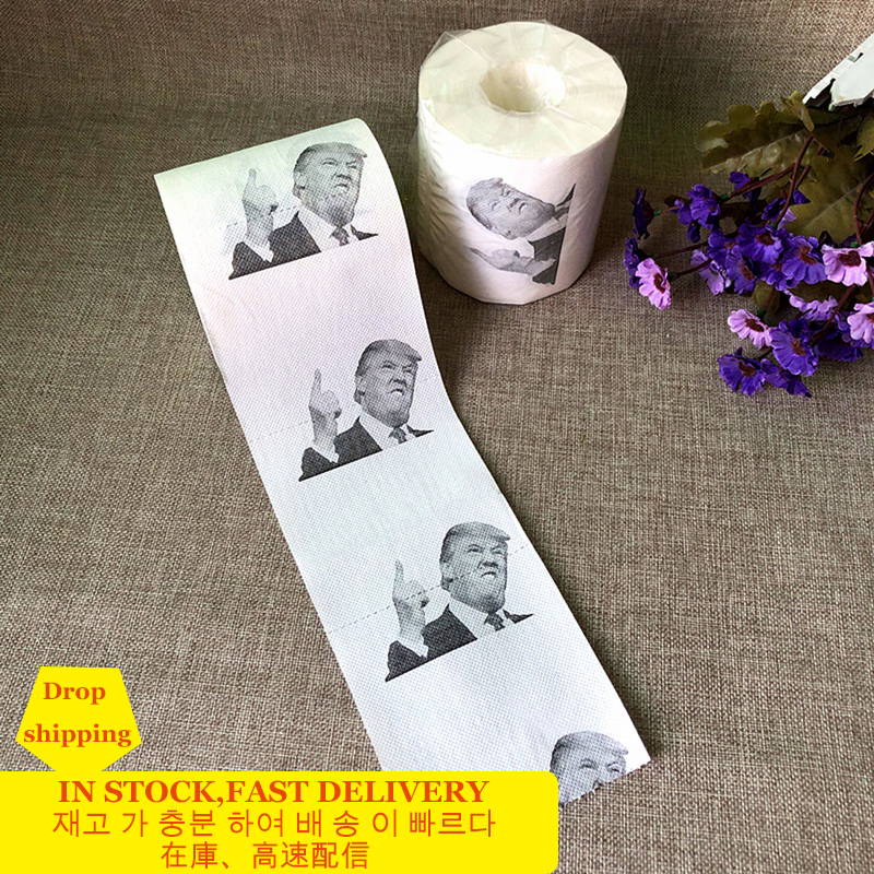 3pcs President Toilet Paper Roll Gag Gift Prank Joke Unique Toilet Paper Home Supplies Rolling Papers Funny Toilet Paper Tissue