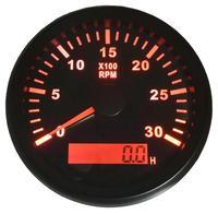 빨간색 백라이트 자동 타코미터 85mm 0-3000RPM Rev 카운터 오토바이 자동차 트럭 보트에 대 한 시간 미터와 LCD 혁명 미터