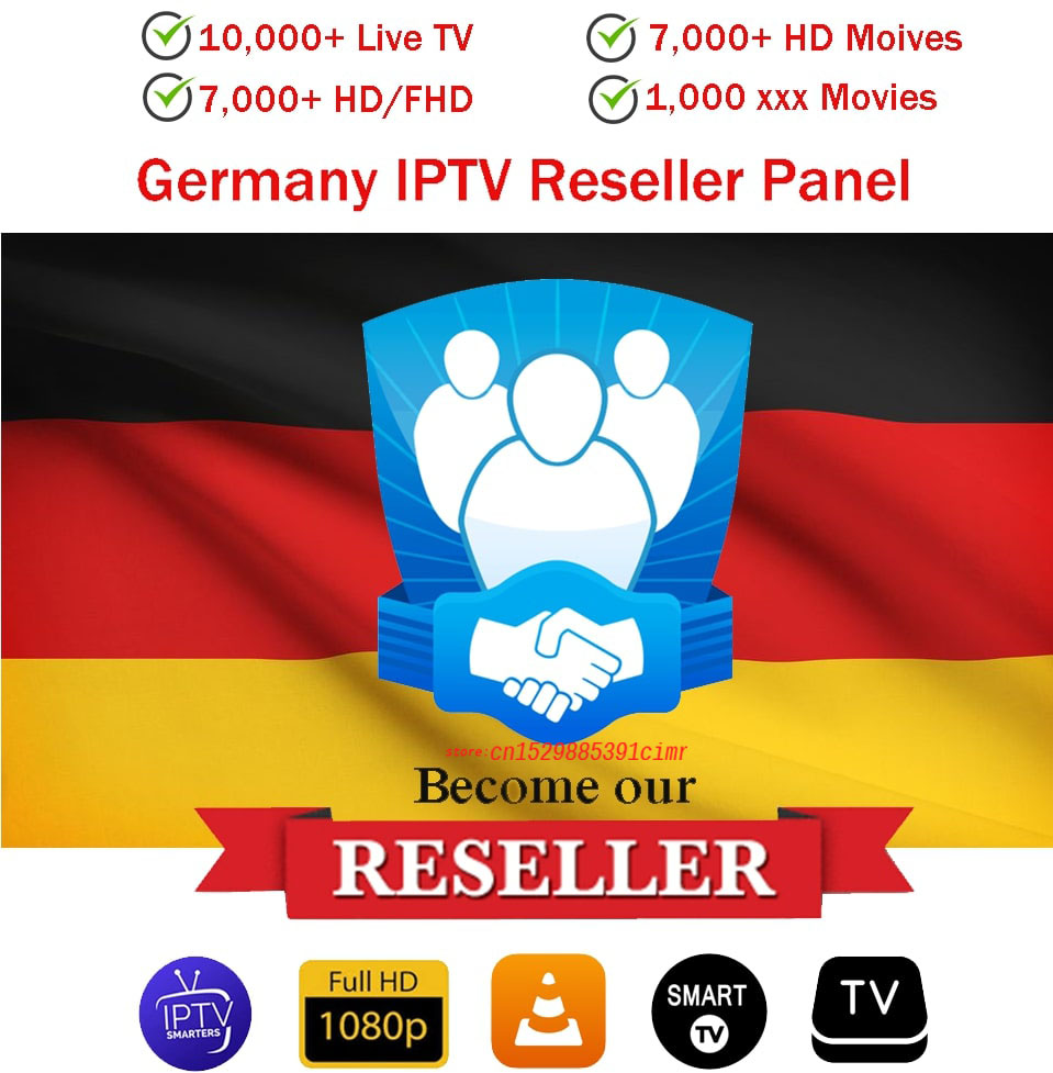 Reseller Panel Iptv Germany Control Panel With Credits Contains 10000+Live For IPTV Resellers IPTV M3U Netherland French