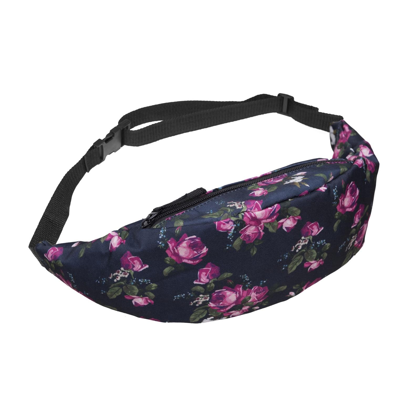 Waist Packs Waterproof Beauty Flower Fanny Pack Adjustable Belt Bag For Men&Women Hip Bum Bag Dropshipping