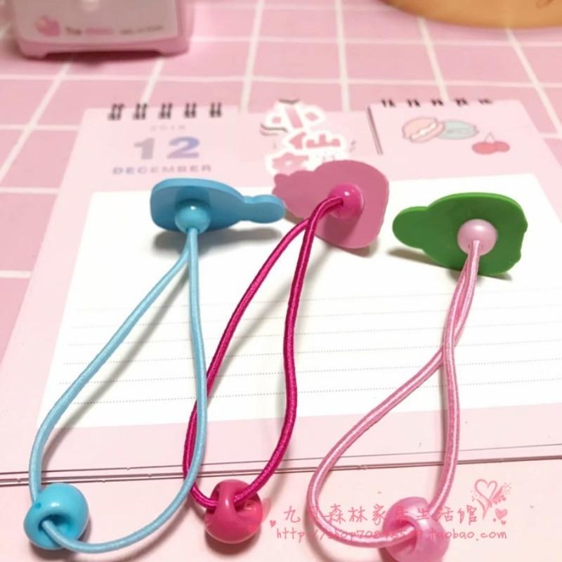 1 Pc Kawaii Sumikko Gurashi Rilakkuma corner biological hair rope children's hair accessories rubber band thin hair rope-2