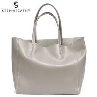 SC Luxury Brand Cow Leather Tote Bags Designer Cowhide Handbags Women Shoulder Bags Fashion Female Large Capacity Liner Bag